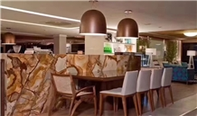 Interior Design Luxury Flamenco Gold Stone Slabs