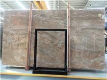 Italy Breccia Aurora Marble Slabs for Floor Tiles