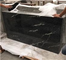 Polished Black Nero Nuvolato Granite Flooring Tile