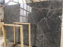 Polished Turkey New Hermes Ash Grey Marble Slabs