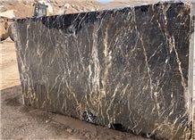 Golden Galaxy Black Marble Block