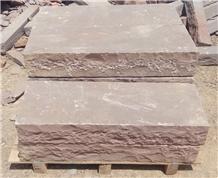 Autumn Brown Sandstone Block Steps
