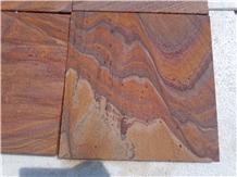 Indian Sandstone Rainbow Tiles