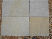 Raj Green Sandstone Paving Slabs & Tiles