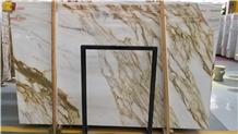 Luxury Calacatta Golden Marble Slabs Price