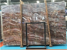 Polished Luxury China Louis Red Marble Slabs Price