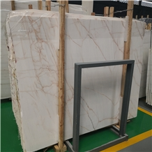 White Marble with Red Veins Slab Price