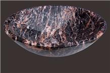 Whosale Azalea Red Marble Round Sinks Price