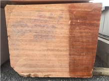 Red Travertine Blocks Available
