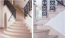 Versailles Cream Limestone Staircase