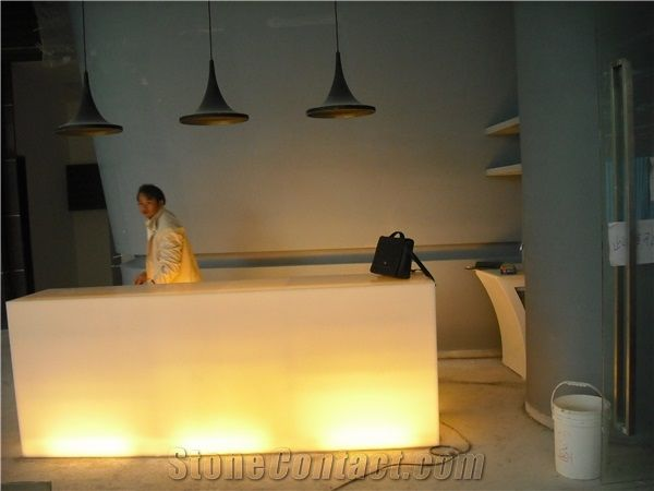 Led Lighting Bar Counter Top Faux Stone