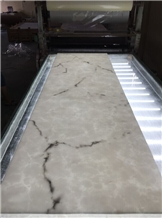 Solid Surface White Artificial Stone Wall Panel