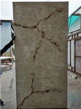 Translucent White Alabaster Stone Artificial Onyx