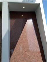 Angola Red Granite Slabs, Tiles