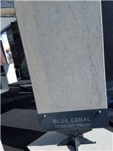 Blue Cobal Limestone Cross Cut Polished