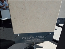 Cream Cobal Limestone Cross Cut Polished