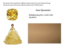 Sun Quartzite Slabs, Tiles