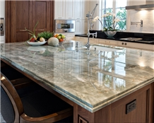 Jadore Green Quartzite Kitchen Island Countertop