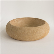 Round Stone Washbasin Diameter 48cm, Height 15cm