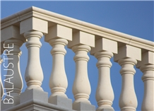 Pietra Leccese Calcare Balustrades, Hand Railings