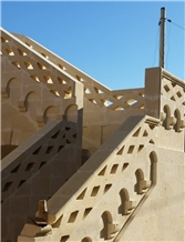 Gravina Tufa Carved Handrail, Stair Balusters