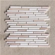 Micro Mosaics, Marble Linear Strips Mosaic