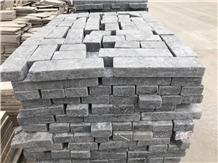 Antique Black Limestone Brick, Tumbled Wall Stone