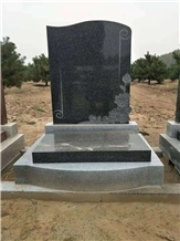 China Style Tombstone Binzhou Black Mounment
