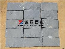 Black Basalt Split Cube Stone Cobblestone Pavers