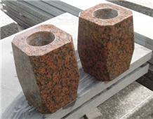 G562 Red Granite Vases,Flower Holder,Red Urns,Vase