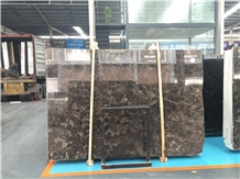China Emperador Dark Brown Marble Slabs High Level
