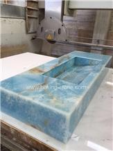Exclusive Blue Onyx Owner Bathroom Vanity Onyx