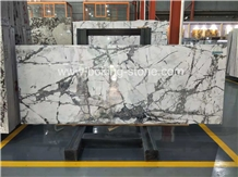 Invisible Grey Marble Venato White Slabs Bookmatch