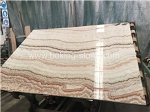 Rainbow Onyx Slab Brown Veins