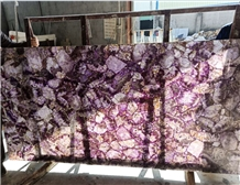 Amethyst Slabs Purple Crystal Semiprecious Stone
