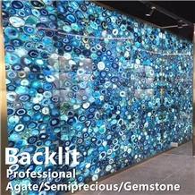 Backlit Semiprecious Stone Slabs,Agate Stone Tiles