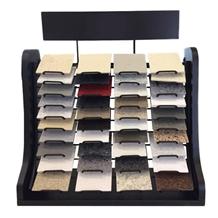 Quartz, Ceramic Tile and Granite Countertops Samples Display Rack