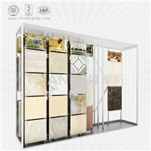 Sliding Ceramic Tile Showroom Display Rack Stand