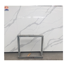 White Marble Look Calacatta Quartz for Kitchen