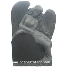 Black Granite Angel Heart Tombstones and Monuments