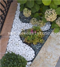 Decorative Garden Pea Gravel White Marble Chips