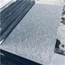 Outdoor Flamed G654 Sesame Black Granite Tile Slab