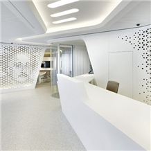 Commercial Acrylic Office Reception Counter