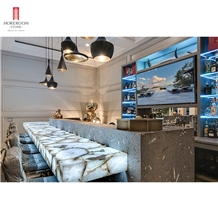 Luxurious White Agate Bar Top Furniture Design