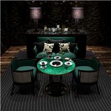 Malachite Furniture Round Green Stone Table Top
