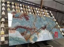 Natural Blue Onyx Transparent Slab Tiles