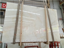 Pearl White Onyx Slab for Wall Decor Panel