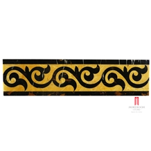 Portopo & Golden Onyx Water-Jet Marble Border