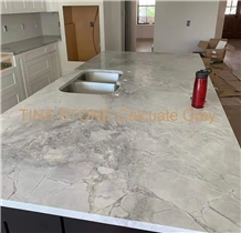 Calculate Grey Marble Islands Countertops