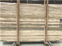 Light Brown Wooden Beige Travertine Tiles & Slabs